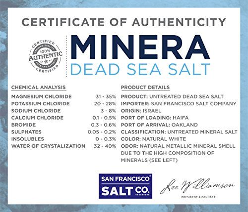 Minera Dead Sea Salt, 20lbs Fine. 100% Pure and Certified. Natural treatment for psoriasis, eczema, acne and more by Minera (Image #6)