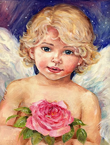 carolines-treasures-cdco0249chf-little-angel-by-debbie-cook-flag-canvas-house-size