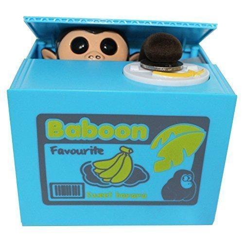 LOBZON Automated Monkey Coin Box Money Saving Box by LOBZON