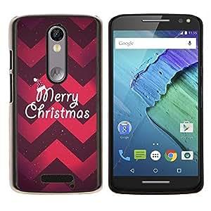 Stuss Case / Funda Carcasa protectora - Navidad Chevron rojo púrpura de Navidad - Motorola Moto X3 3rd Generation