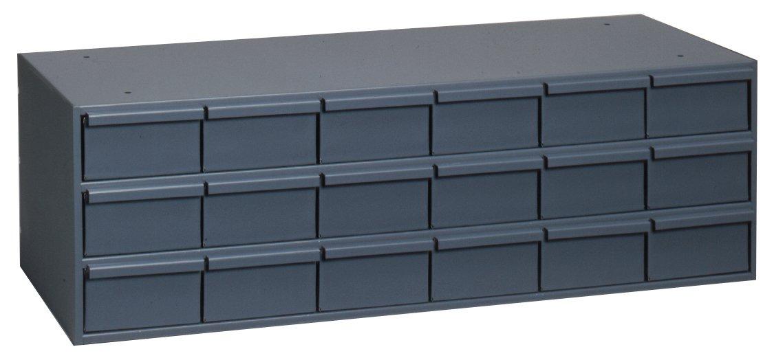 Durham 030-95 Gray Cold Rolled Steel Storage Cabinet, 33-3/4'' Width x 12-7/8'' Height x 11-3/4'' Depth, 18 Drawer by Durham (Image #1)