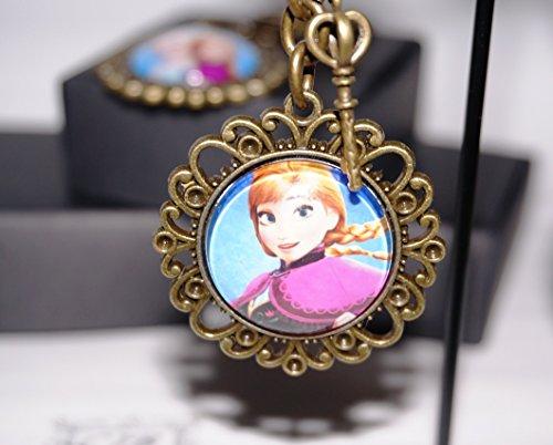 [CJB Frozen Vintage Keychain Circle Anna (US Seller)] (Tattoos Of Princess Crowns)