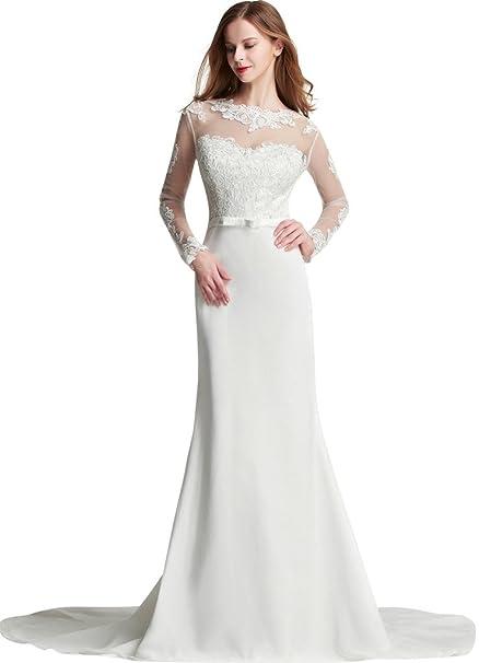hochzeits-shop-hamburg - Vestido de novia - Manga Larga - Mujer marfil 38