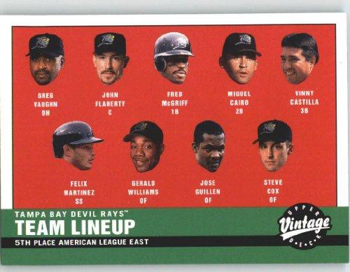 2001 Upper Deck Vintage #45 2000 Devil Rays Lineup - Tampa Bay Devil Rays (Tampa Bay Devil Rays CL) (Baseball Cards)
