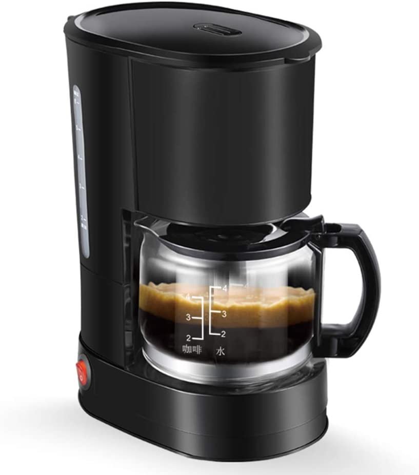 Máquina de café, 550W cafetera de filtro con filtro reutilizable y función de mantener caliente Sistema antigoteo 0.6 litros y libre de BPA,Negro: Amazon.es: Hogar