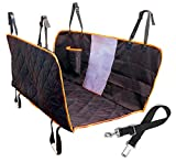 Dog Seat Cover With Dog Viewing Window - Large Back Seat Cover with Mesh Barrier - Hammock Pet Car Seat Cover With Seat Anchors for Cars - Trucks - SUV - Non Slip Waterproof Machine Washable