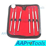 AAProTools Dental Dentist Pick Tool Kit 6 Piece Up To 8 Tools - Dentist, Dentistry & Oral Kit - Ideal Gift For Medic Students And Personal Use A+ Quality