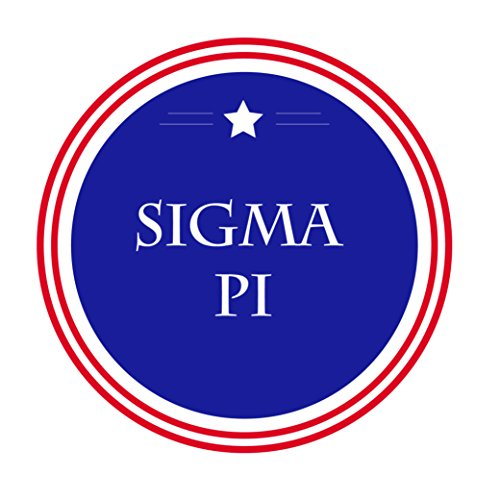 Sigma Pi Fraternity Usa Single Star Circle Sticker Decal 3 Inch Greek For Window Laptop Computer Car