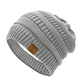 Durio Womens Knit Beanie Winter Thick Solid Fleece Lined Beanie Hats for Women Men Unisex Warm Skiing Beanies