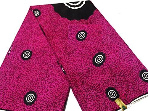 2 Yards Pink African Fabric Ankara Hollandaise Dutch Prints