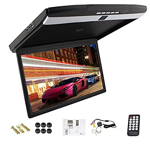 Universal 17 inches car Monitor LED digital screen Car Roof Mounted Monitor car ceiling monitor flip down monitor - Ceiling Mount Flip Down Lcd