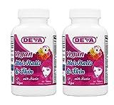 Deva Nutrition Vegan Vitamins for Hair Nails and Skin, 2 Count