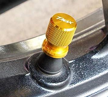 Color : Titanium RONGLINGXING Parti Powersports For YAMAHA TMAX 530 Tmax500 T-Max530 500 universale Motociclo Accessori rotella Coperchio CNC di valvola della gomma del gambo Airtight Covers Cap
