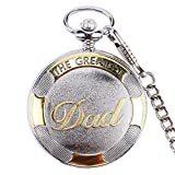 Men Pocket Watch Quartz Perfect Birthday Anniversary Gifts Retro Classic Rome Numeral Watch