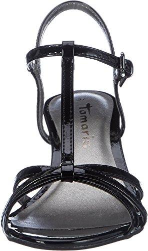 Tamaris 28329 , Sandalias con Tira a T para Mujer Negro (Black Patent 018)