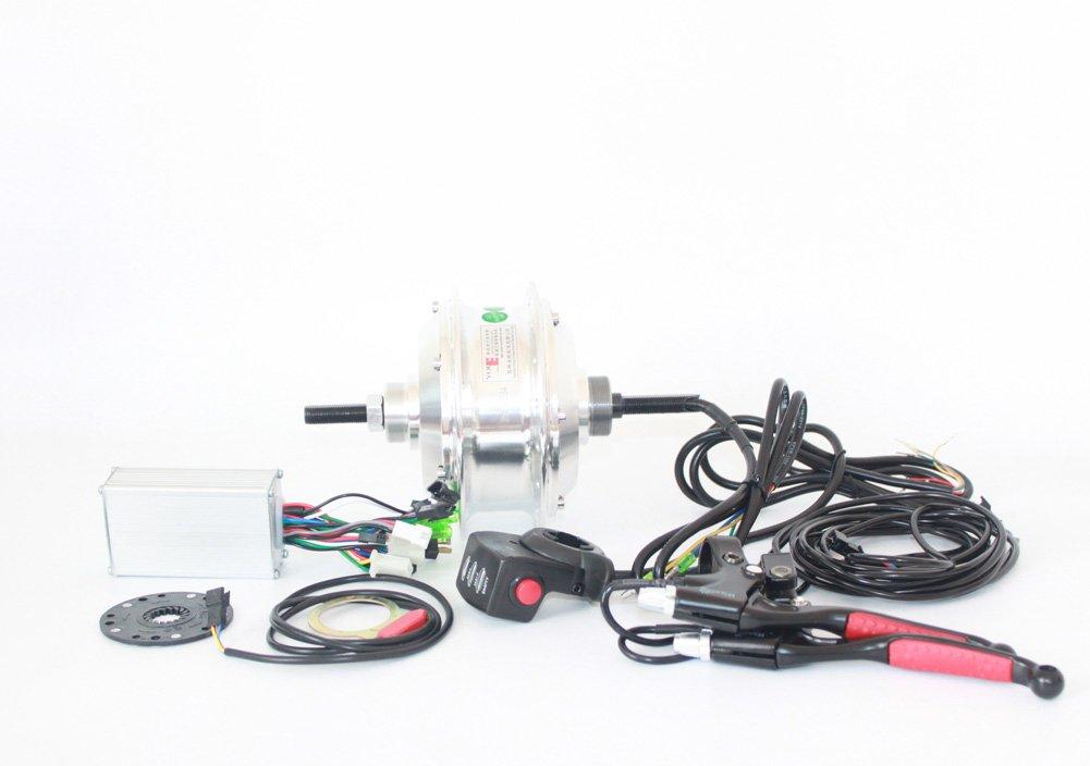 48ボルト350ワット電動自転車ハブモーターホイールキット一般自転車リアホイールモーター使用バンドブレーキとシングルフリーホイールことでlcdディスプレイ [並行輸入品] B07B9579BS48V350W