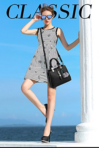 Handle Designer Handbag The Bow Women Bag with For Handbags 1 body Leather Ladies Best Grey Vintage Cross F8gUX8