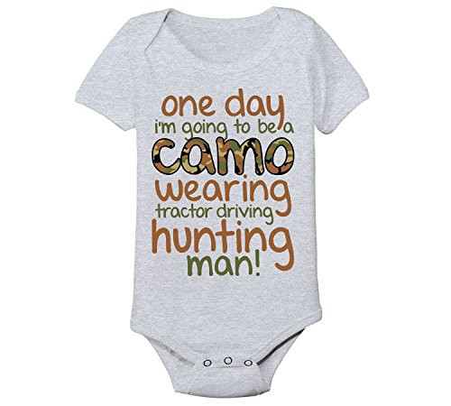 Camo Wearing Tractor Driving Hunting Man Country Rural Cute Funny Baby One Piece