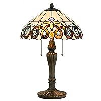 "Cloud Mountain Tiffany Style 15.5 ""Pantalla de lámpara de mesa Lámpara de escritorio de vidrieras barrocas Decoración para el hogar Iluminación"