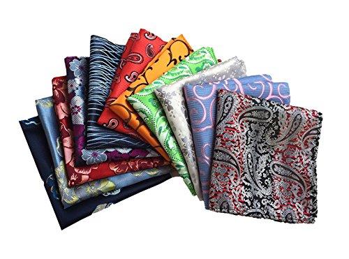 MENDENG Mens Assorted Cotton Polka Dots Pocket Square Handkerchief Set of - Pocket Handkerchief Square