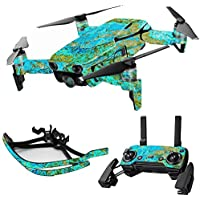 MightySkins Skin for DJI Mavic Air Drone - Teal Marble | Max Combo Protective, Durable, and Unique Vinyl Decal wrap cover | Easy To Apply, Remove, and Change Styles | Made in the USA