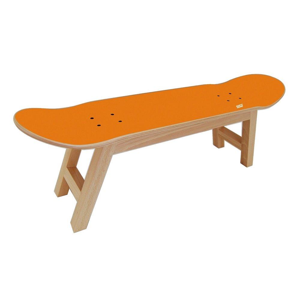 Children and Kids Stool or bench furniture for bedroom or Living Room – Unique gift for skaters - Orange stool