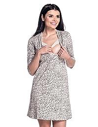 Zeta Ville - Womens Maternity Nursing Nightdress Breastfeeding Nightie - 244c