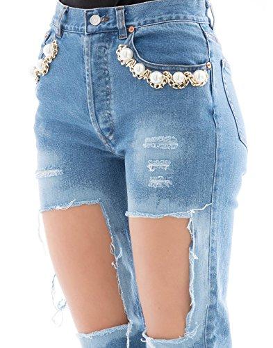 Cotone COUTURE FC1SS1886LIGHTBLUE Donna FORTE Jeans Azzurro wYZI4z