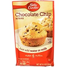 Betty Crocker Baking Mix, Chocolate Chip Muffin Mix, 6.5 Oz Pouch (Pack of 9)