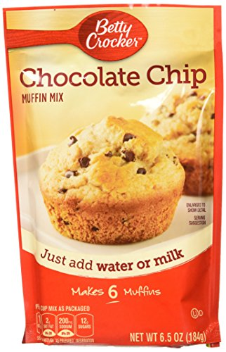 Betty Crocker Baking Mix, Chocolate Chip Muffin Mix, 6.5 Oz Pouch (Pack of 9) ()