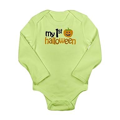 Amazon.com  CafePress - My 1st Halloween Long Sleeve Infant Bodysuit - Cute  Long Sleeve Infant Bodysuit Baby Romper  Clothing 8b536b3e0