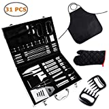 Ohuhu BBQ Tools Set, 31-Piece Grill Tools set, Heavy Duty Stainless Steel Barbecue Grilling Utensils with Aluminium Case, Grilling Accessories for Barbecue