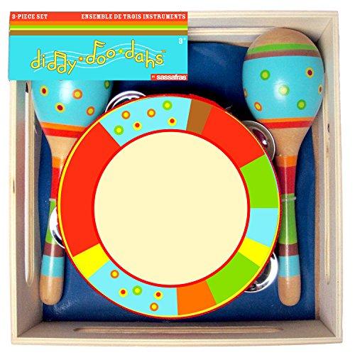 Sassafras Diddy-Doo-Dah Bright Stripes Instrument Set (3 Piece)