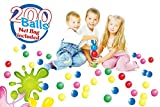POCO DIVO 200 Pit Balls Crushproof Kids Play Fun Ball 5-Color Magic Seaball with Mesh Bag