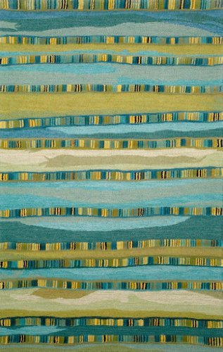 Liora Manne Seville Mosaic Stripe Hand Tufted Rug, 27-Inch by 8-Feet, Blue by Liora Manne - Seville Mosaic Stripe