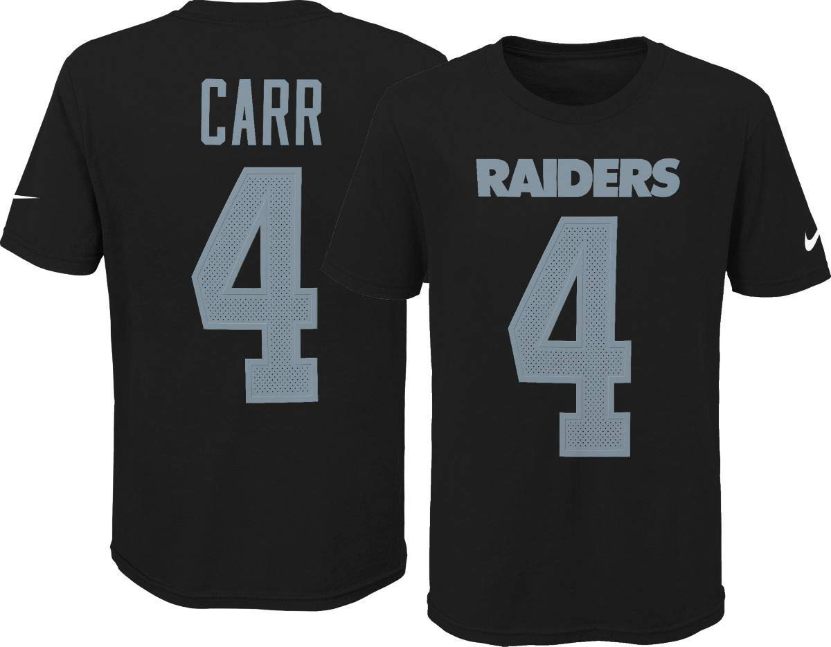Amazon.com   Nike Derek Carr Oakland Raiders Youth Boys Name   Number  Player T-Shirt   Sports   Outdoors 1cd16c37d
