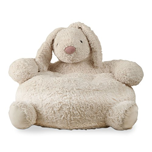 tag - Bunny Plush Chair, Perfectly Designed for Your Child's Room or Nursery, Ivory - Ivory Bunny