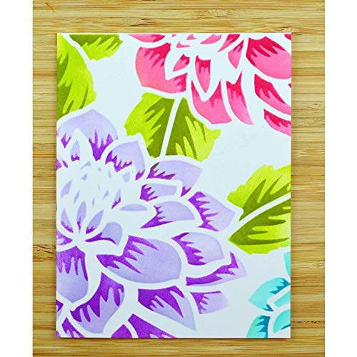 Lessonmart 2pcs/Set Layered Dahlia Stencils for DIY Scrapbooking Decorative Embossing DIY Paper Card Craft Plastic Templates Drawing Sheets