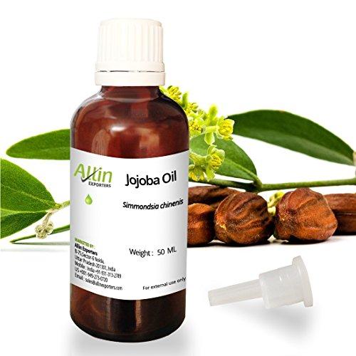 Allin Exporters Jojoba Oil – 50 ML – 100% Pure Virgin Cold Pressed Unrefined Organic Jojoba Oil