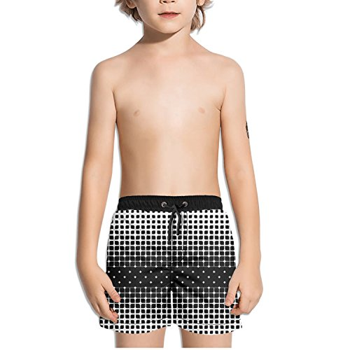 Ouxioaz Boys' Swim Trunk Seamless Geometric Leaf Beach Board Shorts by Ouxioaz