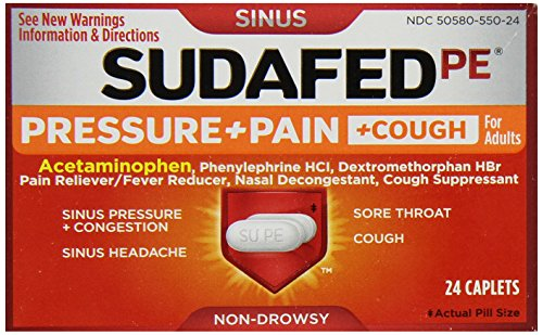 sudafed pe pressure + pain - 5