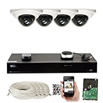 GW Security 8CH 1TB NVR 5MP H.265 Built-In Microphone Audio Recording 4 x HD 1920P IP PoE Security Camera System