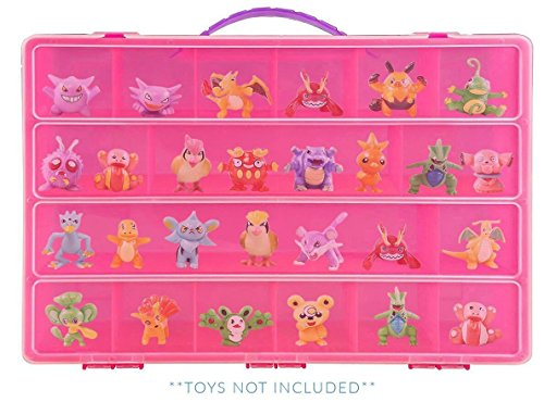 Pokemon Case, Toy Storage Carrying Box. Figures Playset Organizer. Accessories For Kids by LMB