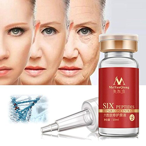 Fabal 10ml Six Peptide Face Liquid Anti Wrinkle Collagen Repair Face Cream Liquid (Red)