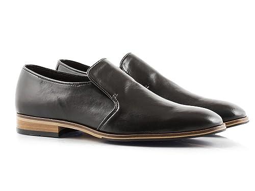 4cc79b0fe7 Bourgeois Boheme Men d Russell Dress Slip-On Vegan Shoe in Black (45