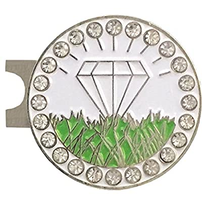 Giggle Golf Bling Diamond In The Rough Golf Ball Marker With A Standard Hat Clip