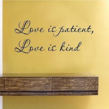 Amazon.com: Love is patient Love is kind 1 Corinthians 13:4 Vinyl ...