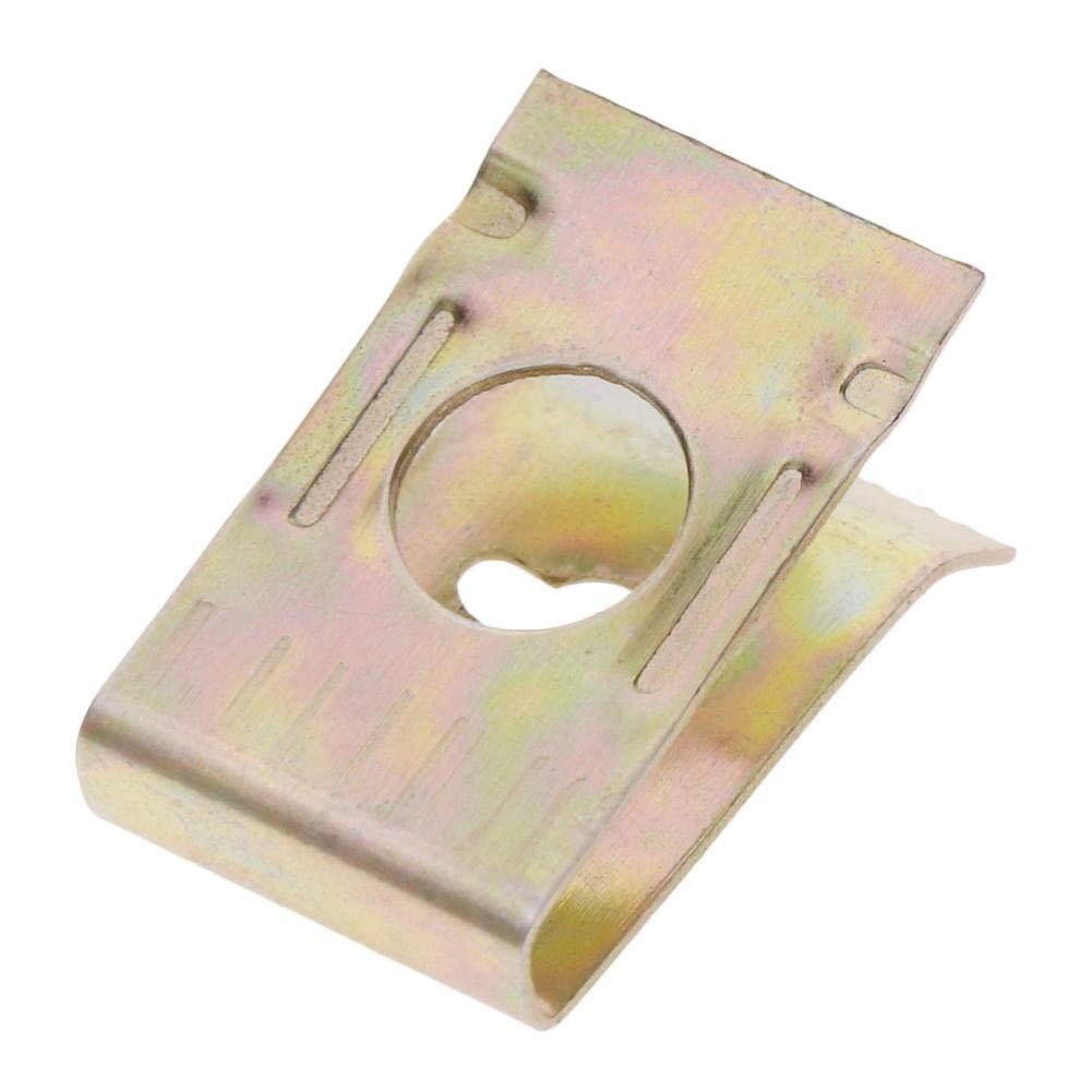 RUNGAO 100Pcs Car Screw U-clip Bronze Tone Spring Metal Car Door Panel Spire U-type Clips