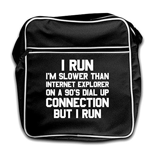 I Black Retro Bag Flight Explorer Run Slower Internet Than Red 7q7Frz