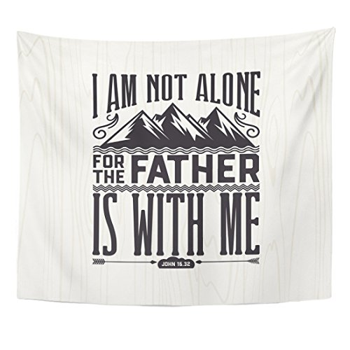 (Emvency Tapestry Biblical Christian Lettering I Am Not Alone for The Home Decor Wall Hanging for Living Room Bedroom Dorm 50x60 inches)